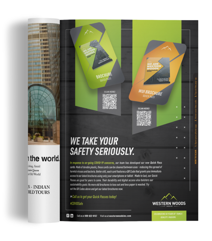 An image of the Western Woods COVID-Safety Ad featured in the May 2021 Issue of Merchant Magazine.